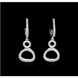 14KT White Gold 0.36ctw Diamond Earrings