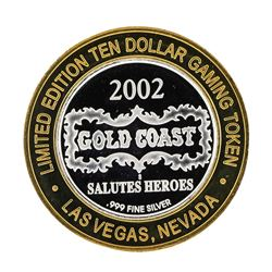 .999 Silver Gold Coast Las Vegas Nevada $10 Casino Limited Edition Gaming Token