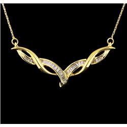 10KT and 14KT Yellow Gold 0.50ctw Diamond Necklace