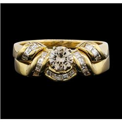 14KT Yellow Gold 0.75ctw Diamond Wedding Ring Set