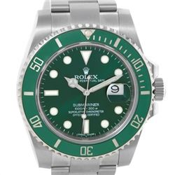 Rolex Submariner Green Dial Ceramic Bezel Mens Watch