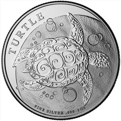 2016 1 oz New Zealand Silver $2 Niue Hawksbill Turtle Coin