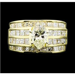 14KT Yellow Gold 3.50ctw Diamond Ring