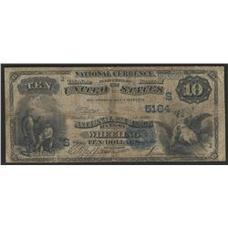 1882 $10 National Exchange Bank Wheeling West Virginia National Bank Note