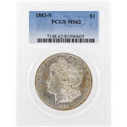 1883-S $1 Morgan Silver Dollar Coin PCGS MS62