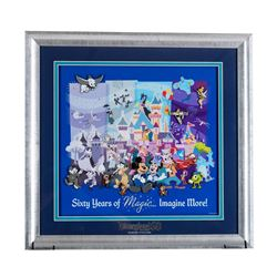 Disneyland 60 Years of Magic Diamond Celebration Framed Pin Set