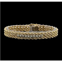 14KT Two Tone 0.50ctw Diamond Bracelet