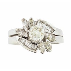 14KT White Gold 1.20ctw Diamond Ring