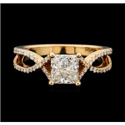 14KT Rose Gold 1.35ctw Diamond Ring