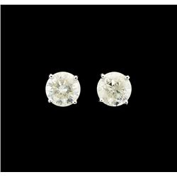 14KT White Gold 1.46ctw Diamond Earrings
