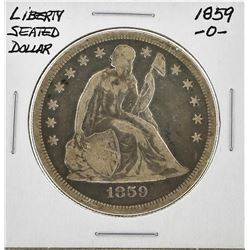 1859-O $1 Liberty Seated Silver Dollar Coin