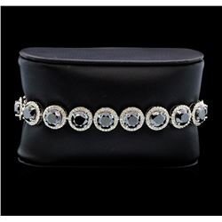 14KT White Gold 34.08ctw Black Diamond Bracelet