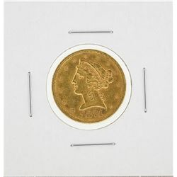 1874-S $5 Liberty Head Half Eagle Gold Coin