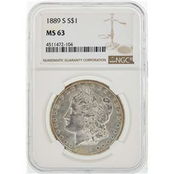 1889-S $1 Morgan Silver Dollar Coin NGC MS63