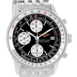 Breitling Navitimer II Stainless Steel Black Dial Mens Watch