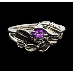14KT White Gold 0.50ct Amethyst Ring