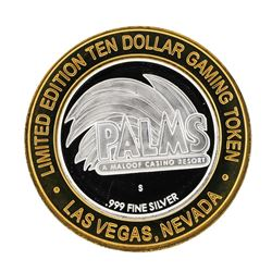 .999 Silver Palms A Maloof Casino Resort Las Vegas Nevada $10 Casino Limited Edi