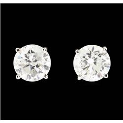 14KT White Gold 1.90ctw Diamond Earrings