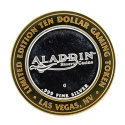 .999 Silver Aladdin Resort Casino $10 Casino Limited Edition Gaming Token