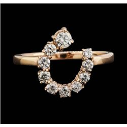14KT Rose Gold 0.74ctw Diamond Ring