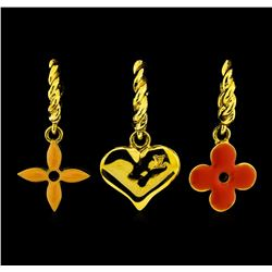 Yellow Gold-Plated Louis Vuitton Sweet Monogram Earrings
