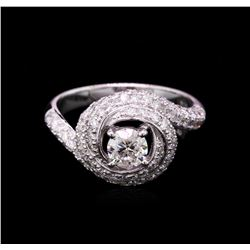 14KT White Gold 1.67ctw Diamond Wedding Ring