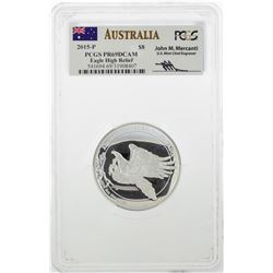 2015-P $8 Australia Wedge Tailed Eagle High Relief 5 oz Silver Coin PCGS PR69DCA