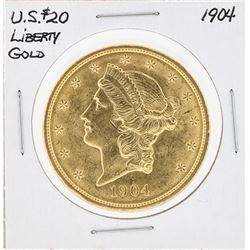 1904 $20 Liberty Head Double Eagle Gold Coin