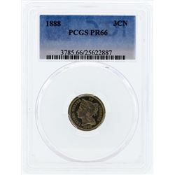 1888 Three Cent Proof Nickel PCGS PR66