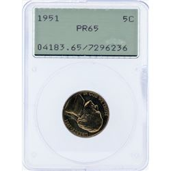 1951 Jefferson Proof Nickel PCGS PR65
