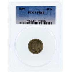 1889 Three Cent Proof Nickel PCGS PR64