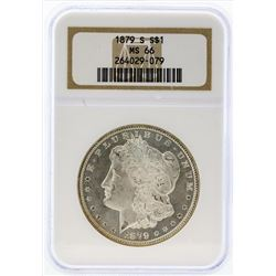 1879-S $1 Morgan Silver Dollar Coin NGC MS66