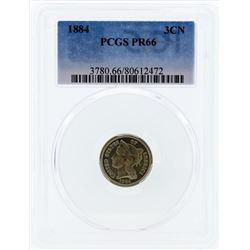 1884 Three Cent Proof Nickel PCGS PR66
