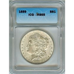 1889 MORGAN SILVER DOLLAR  ICG MS65