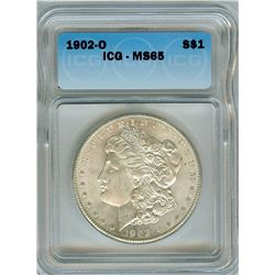 1902-O MORGAN SILVER DOLLAR  ICG MS65