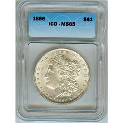 1896 MORGAN SILVER DOLLAR ICG MS65