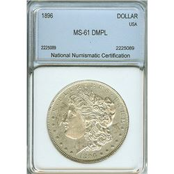1896 MORGAN SILVER DOLLAR  NNC MS-61 DMPL