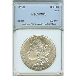 1881-O MORGAN SILVER DOLLAR NNC MS65 DMPL