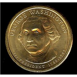 2007 GEORGE WASHINGTON DOLLAR -MISSING EDGE LETTERING MINT ERROR-