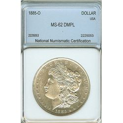 1885-O MORGAN SILVER DOLLAR NNC MS-62 DMPL