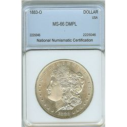 1883-O MORGAN SILVER DOLLAR NNC MS-66 DMPL