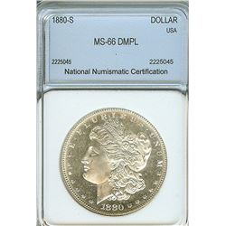 1880-S MORGAN SILVER DOLLAR NNC MS66 DMPL