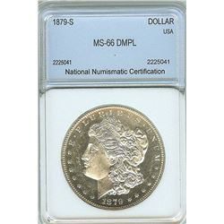 1879-S MORGAN SILVER DOLLAR NNC MS-66 DMPL