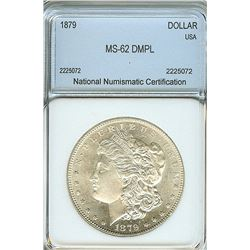 1879 MORGAN SILVER DOLLAR NNC MS62 DMPL