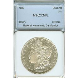 1890 MORGAN SILVER DOLLAR NNC MS-62 DMPL