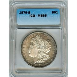1879-S MORGAN SILVER DOLLAR  ICG MS65
