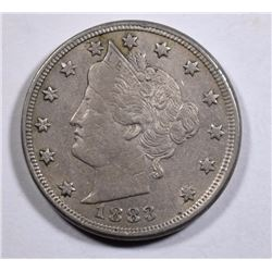 1883 WITH CENTS LIBERTY NICKEL, XF/AU