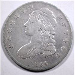 1834 CAPPED BUST HALF DOLLAR, F/VF