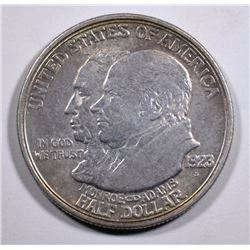 1923-S MONROE COMMEMORATIVE HALF DOLLAR,  AU+
