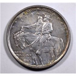 1925 STONE MOUNTAIN COMMEMORATIVE HALF DOLLAR,  AU/BU